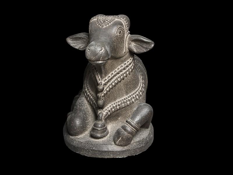 Figure of Nandi, the bull of Shiva (front) - Nandi Bull PNG