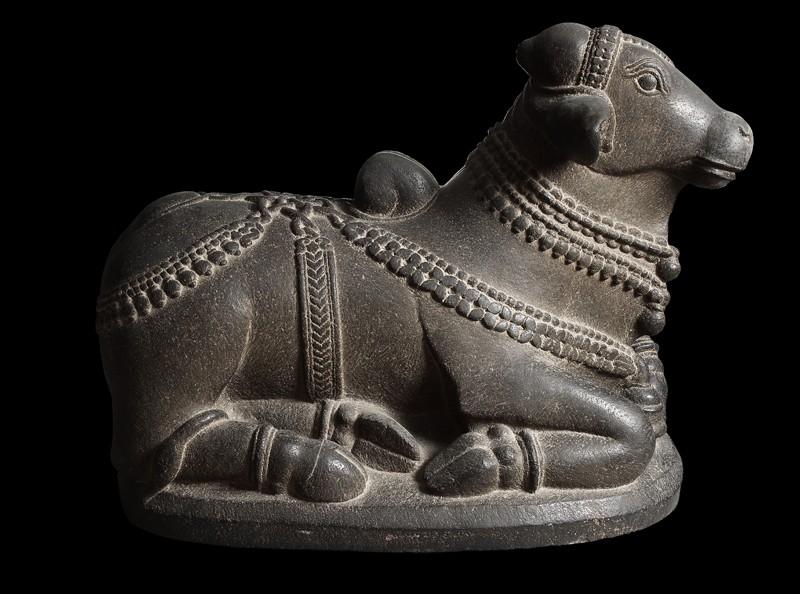 Figure of Nandi, the bull of Shiva (side) - Nandi Bull PNG