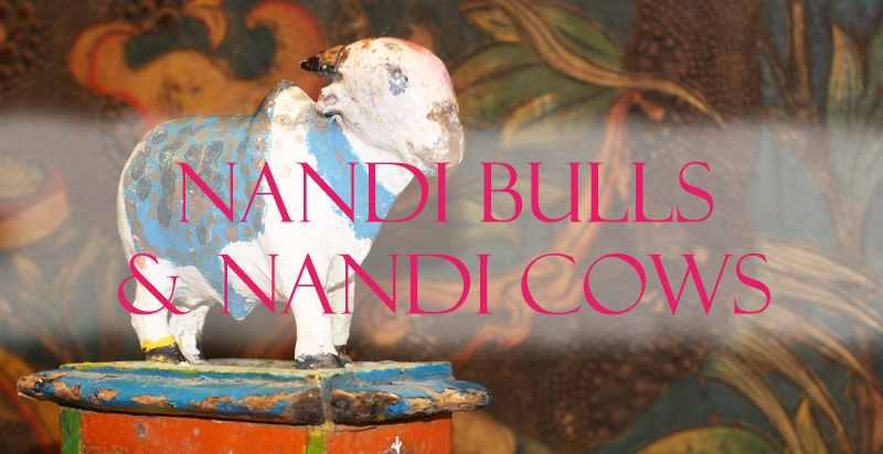 Indian Nandi Bull and Cows Carvings from Opium - Nandi Bull PNG