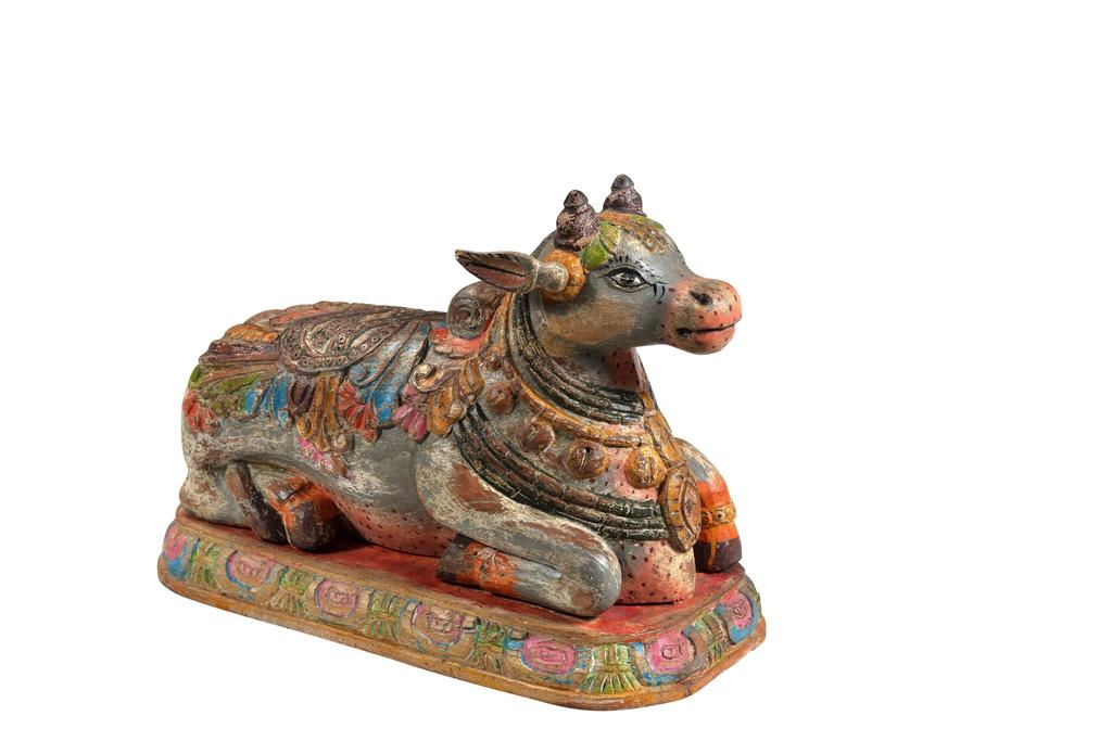 NANDI Bull that serves as the mount for the God Shiva - Nandi Bull PNG
