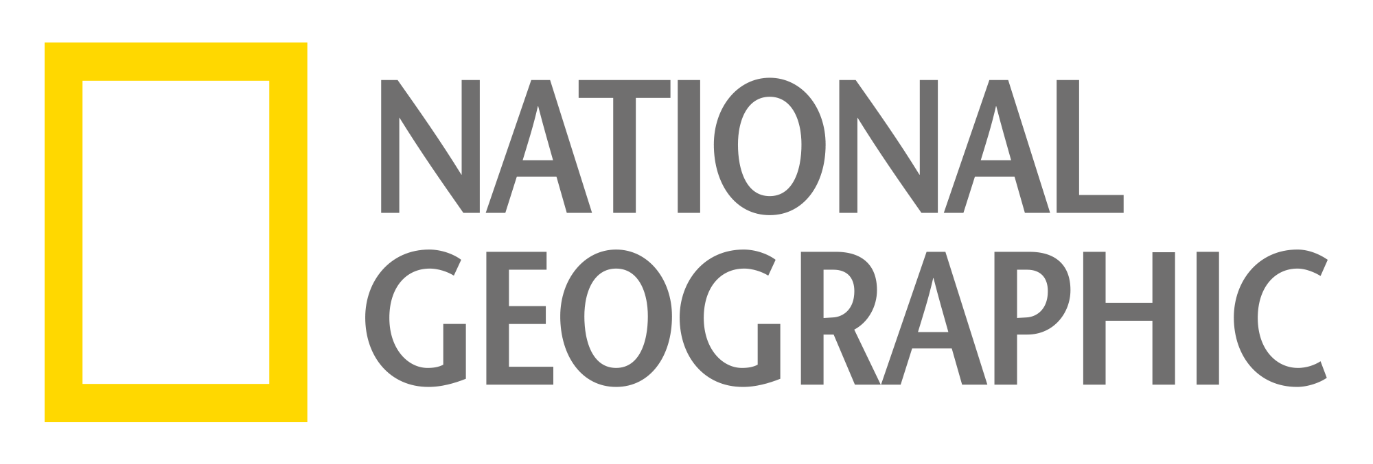 NG_LOGO_gray.png - National Geographic Channel Logo PNG