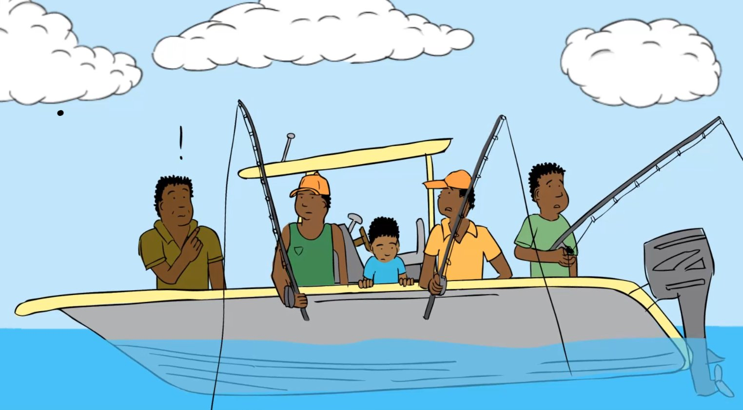 Drawing from Papua New Guinea natural hazards animation by - Natural Hazards PNG