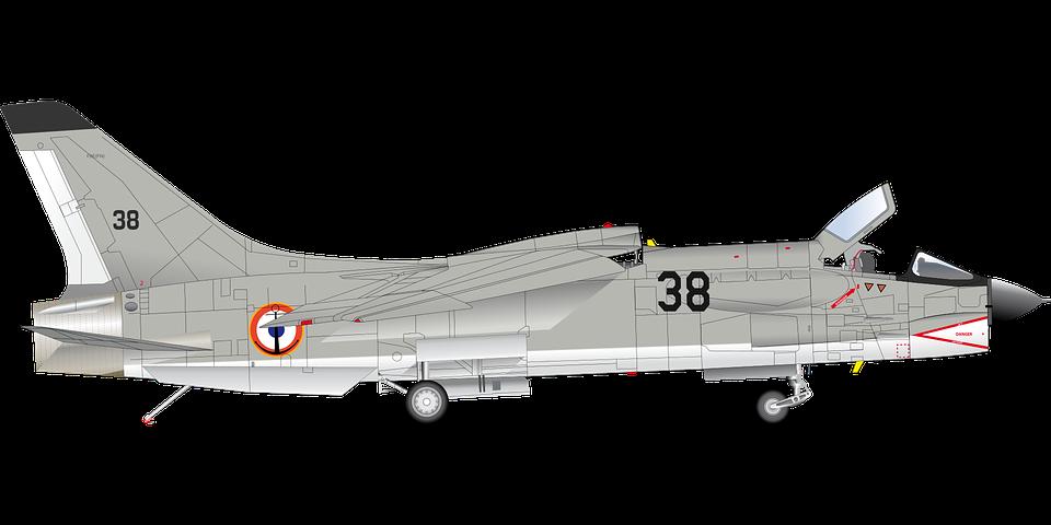 airplane crusader french jet navy