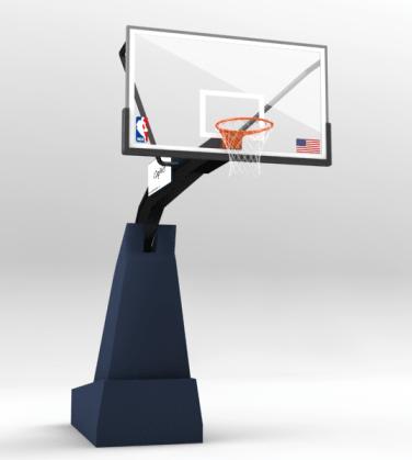 Free NBA Basketball Hoop Model Render - Nba Basketball Hoop PNG