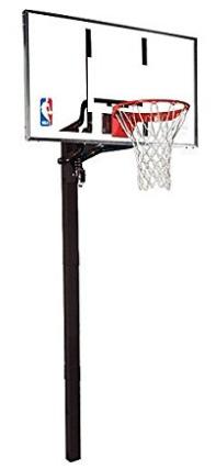 Spalding NBA In-Ground Basketball System - 54 Aluminum Trim Glass Backboard - Nba Basketball Hoop PNG