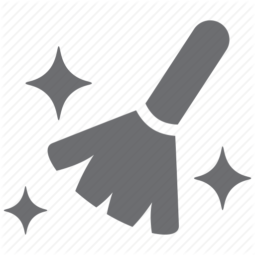 broom, brush, clean, glare, neat, star, tidy icon - Neat And Clean PNG