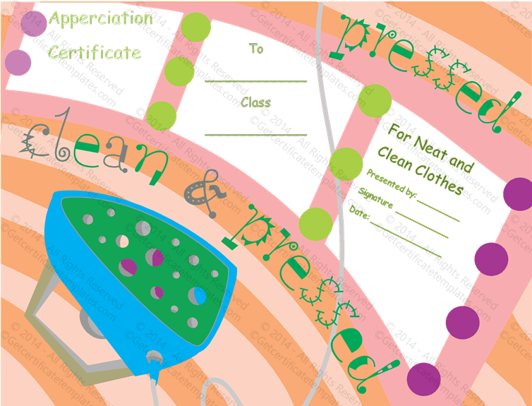 Neat and Clean Certificate of Appreciation - Neat And Clean PNG