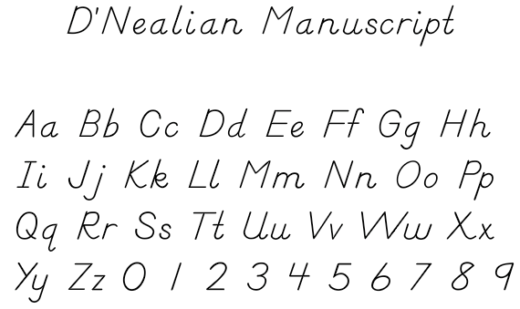 The alphabet formed from Dijk