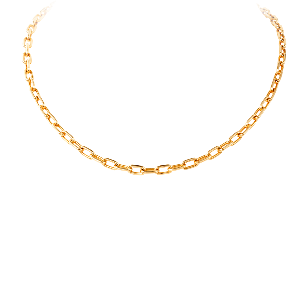 Gold Link Chain Necklace PNG - Necklace PNG
