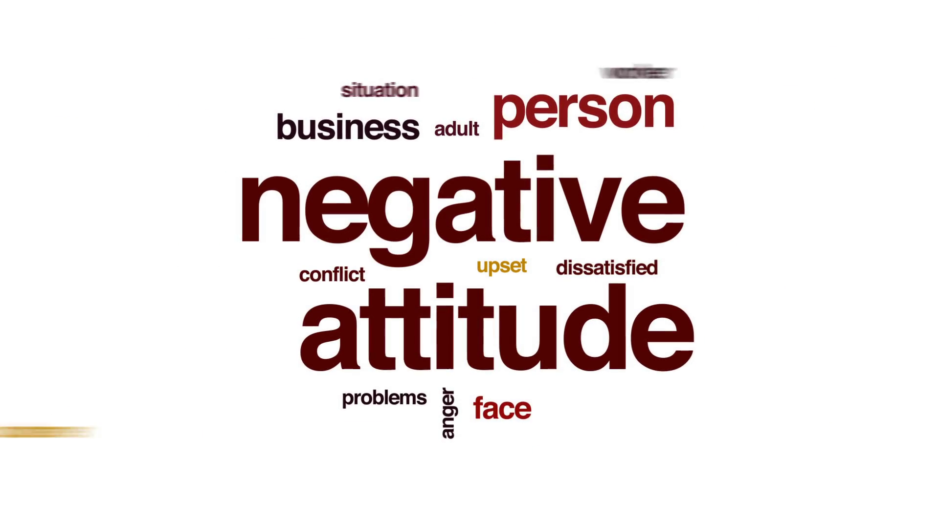 Negative Attitude Animated Word Cloud Text Design Animation Motion Background