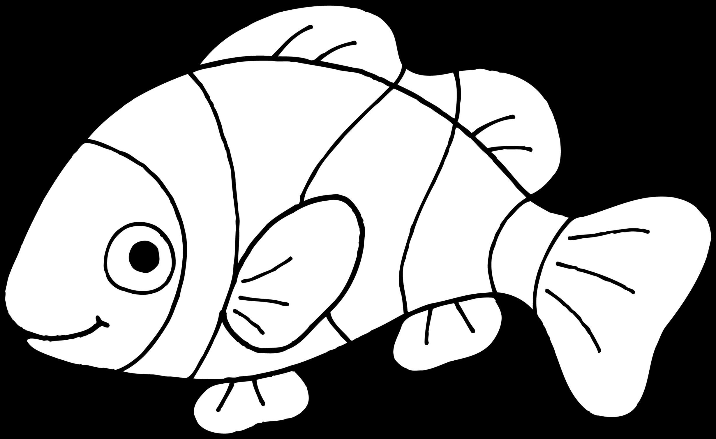 Nemo Fish PNG Black And White - 154352