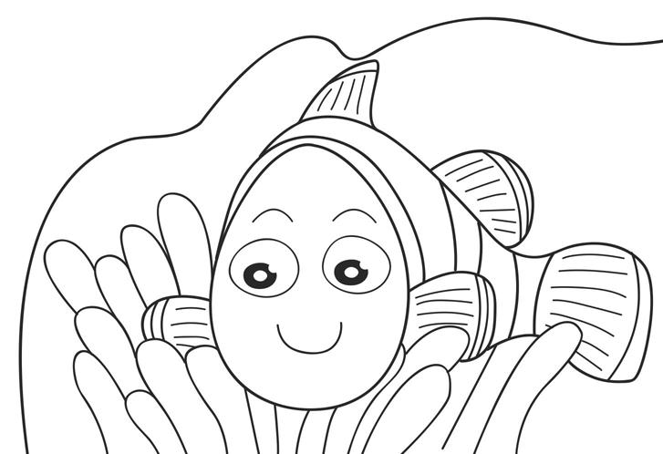 Nemo Fish PNG Black And White - 154360