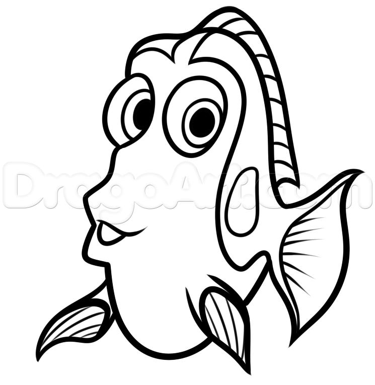 Nemo Fish PNG Black And White - 154361