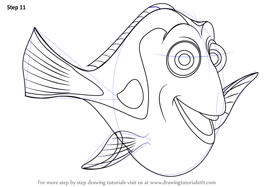 Nemo Fish PNG Black And White - 154364