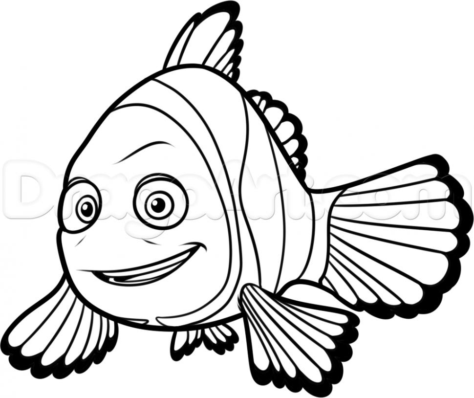 Nemo Fish PNG Black And White - 154353