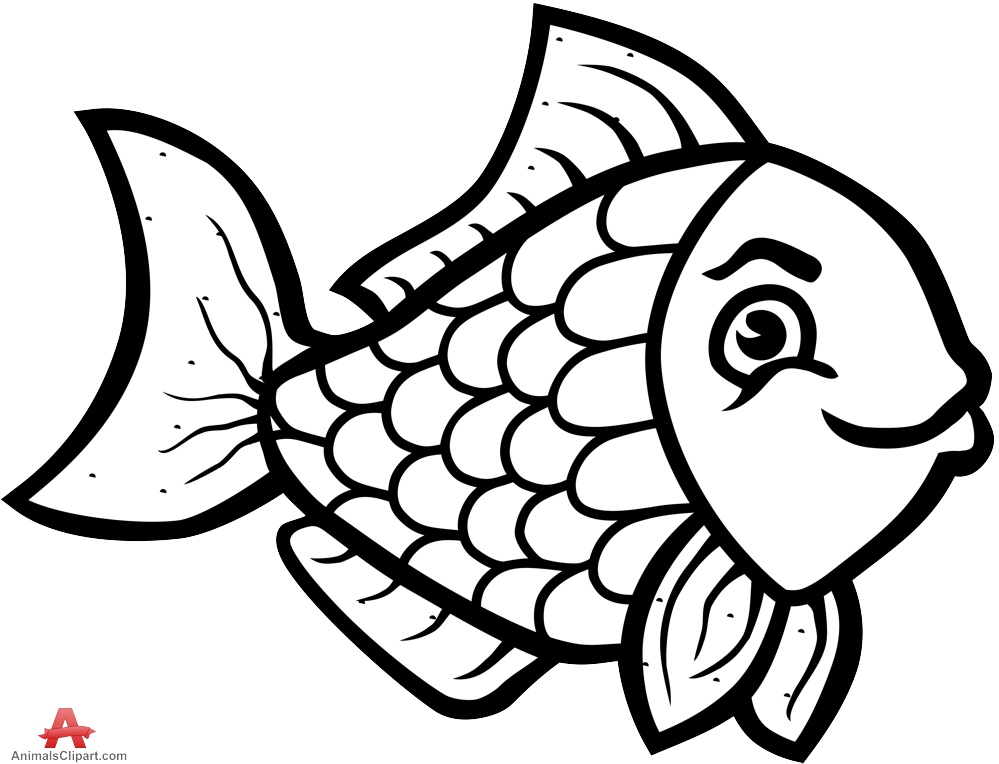 Nemo Fish PNG Black And White - 154355