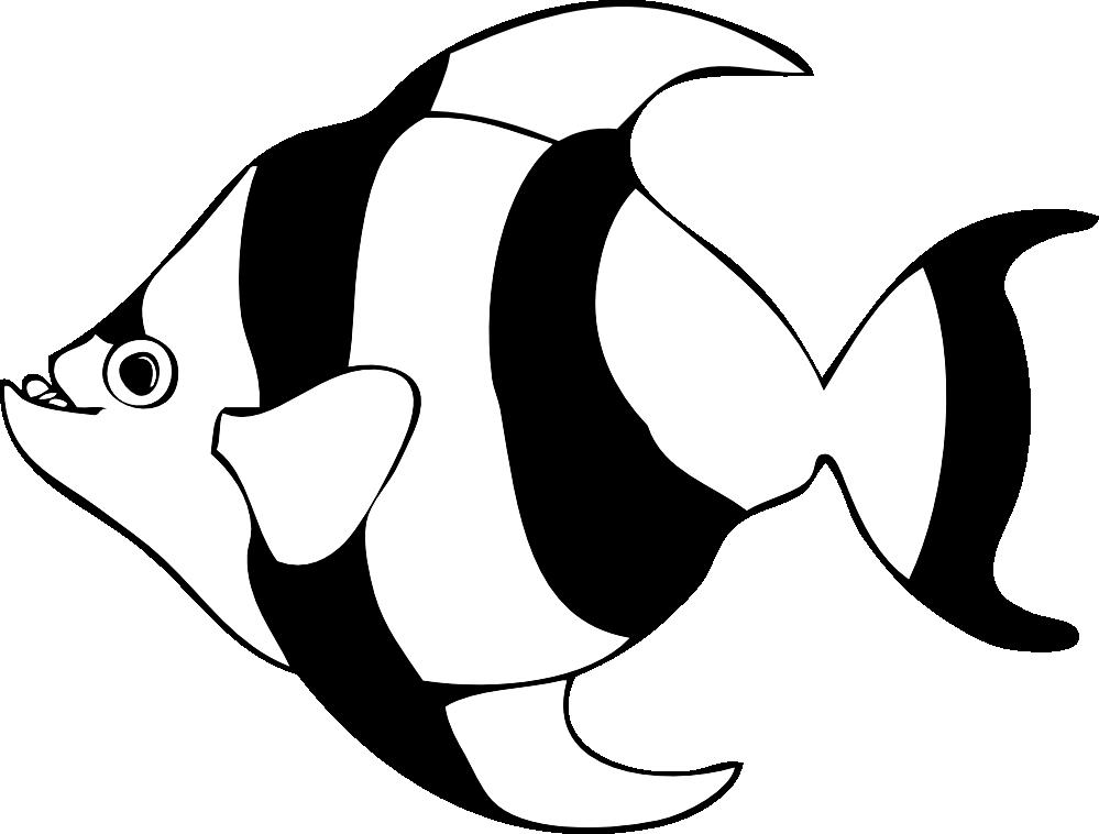 Nemo Fish PNG Black And White - 154359