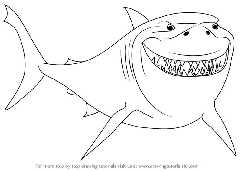 Nemo Fish PNG Black And White - 154362