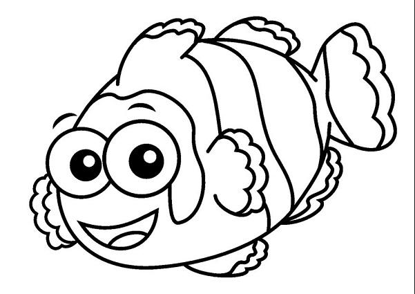 Nemo Fish PNG Black And White - 154365