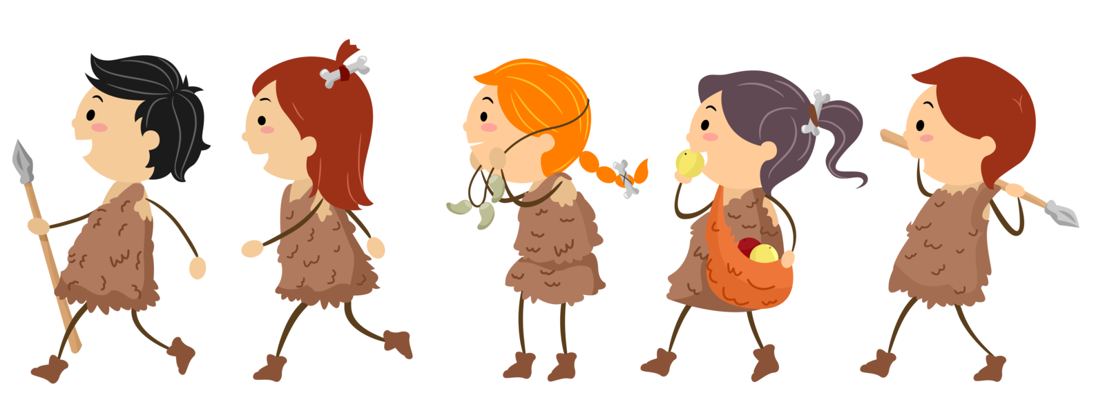Stone Age for kids - Neolithic People PNG