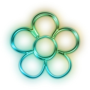 Neon Flower PNG - 74653