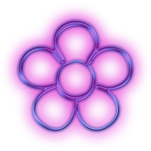 Neon Flower PNG Transparent Neon Flower PNG Images  | PlusPNG