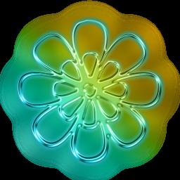 Neon Flower PNG - 74640
