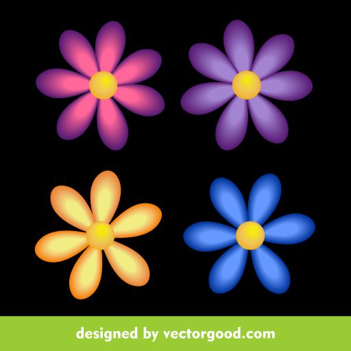 Neon Flower PNG - 74651