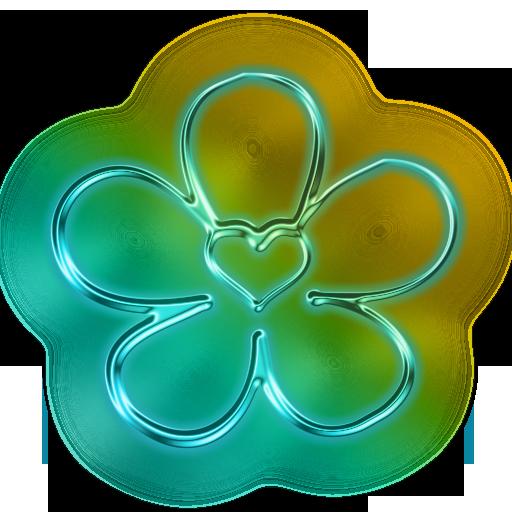 Neon Flower PNG - 74645