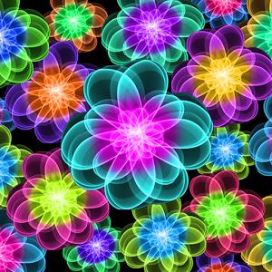 Neon Flower PNG - 74649