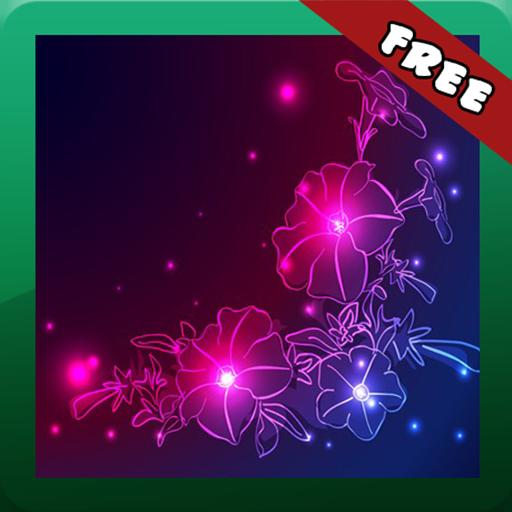 Neon Flower PNG - 74656