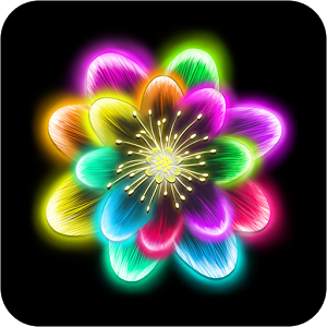 Neon Flower PNG