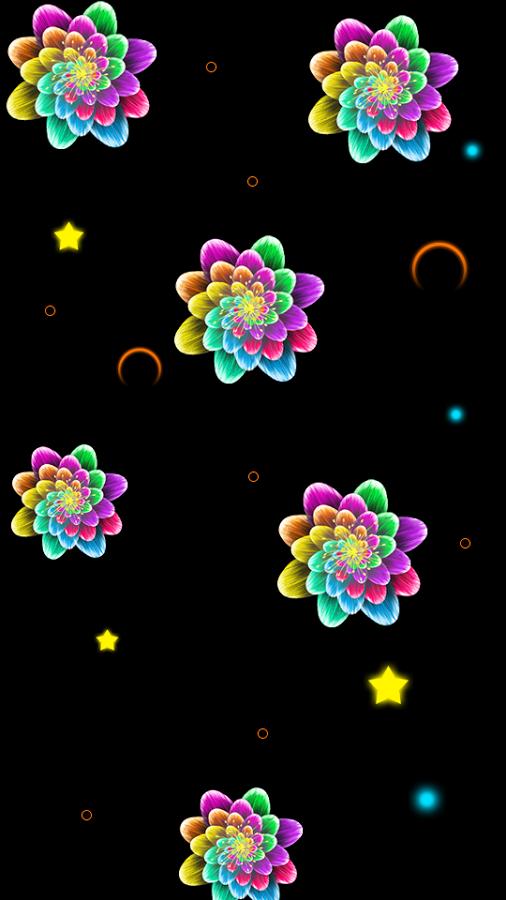 Neon Flower PNG - 74648