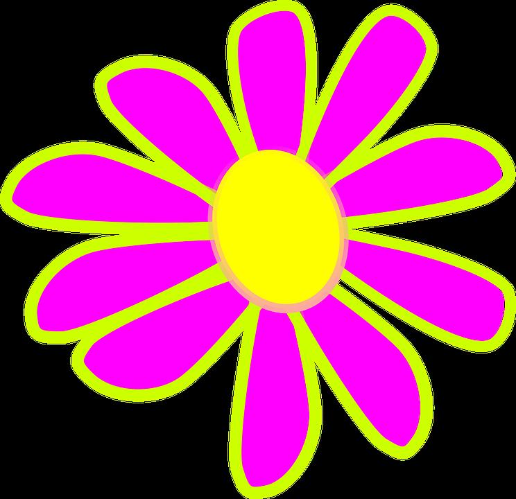 Neon Flower PNG - 74643