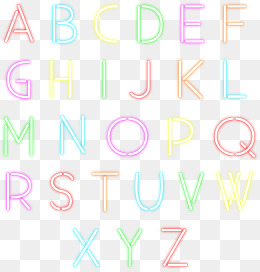 Neon effect alphanumeric symbols, Neon Light, Letter, Digital PNG and Vector - Neon PNG