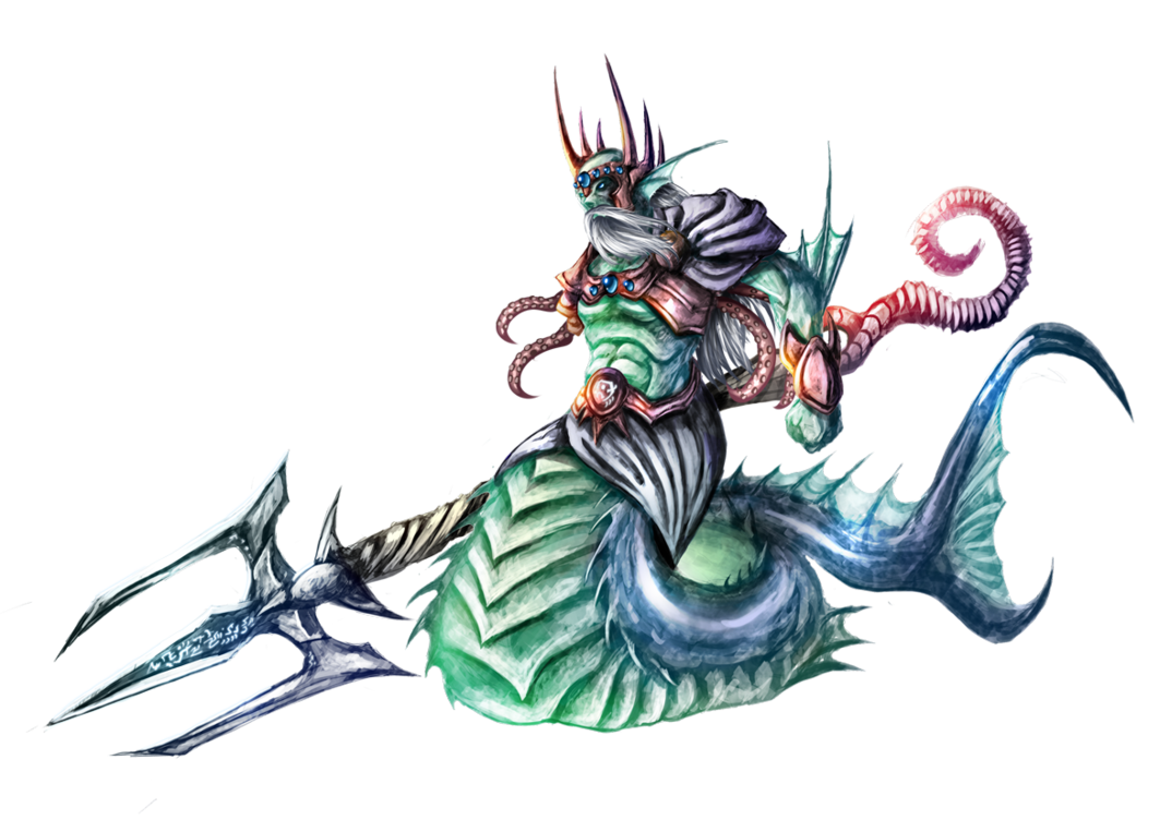 Nereo, King of the Seas by Dragolisco PlusPng.com  - Neptune God PNG