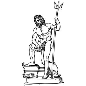 Poseidon - Neptune God PNG