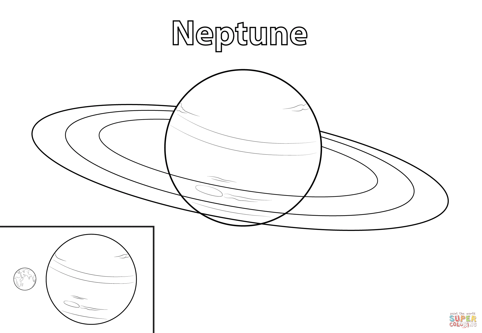 Click the Neptune Planet PlusPng.com  - Neptune PNG Black And White