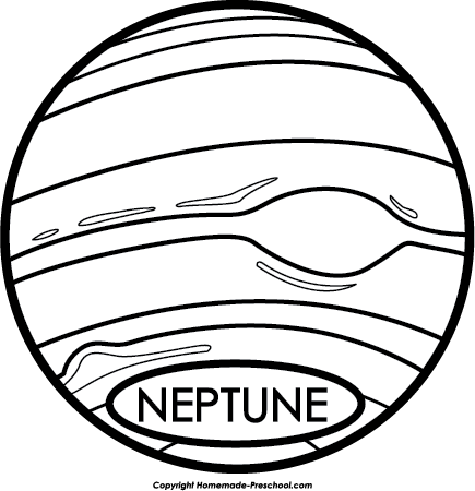 Free Astronomy Clipart - Neptune PNG Black And White