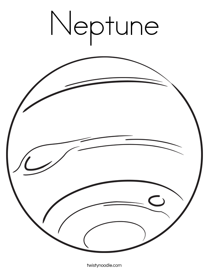 Neptune Coloring Page. - Neptune PNG Black And White