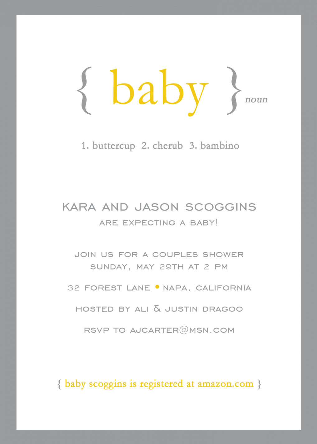 Define: Baby Baby Shower Invitation - Neutral Baby Shower PNG