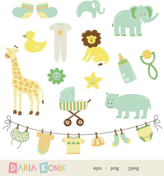neutral baby shower clipart - Neutral Baby Shower PNG