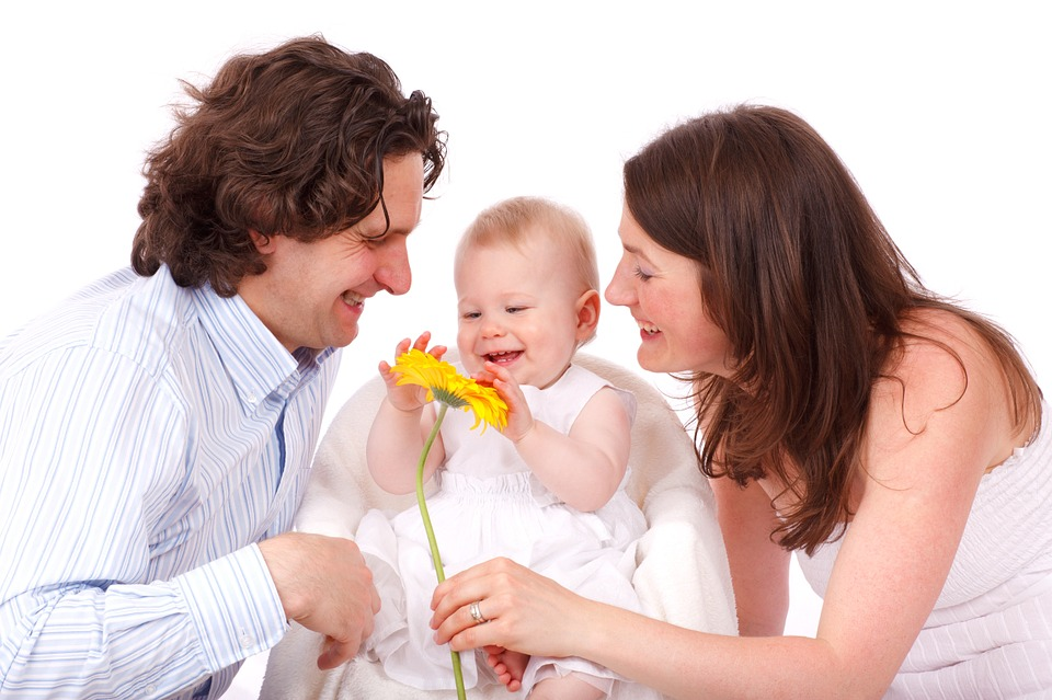 baby caucasian child daughter family father girl - New Family With Baby PNG
