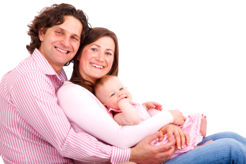 Download Happy Young Couple with thier Baby - New Family With Baby PNG
