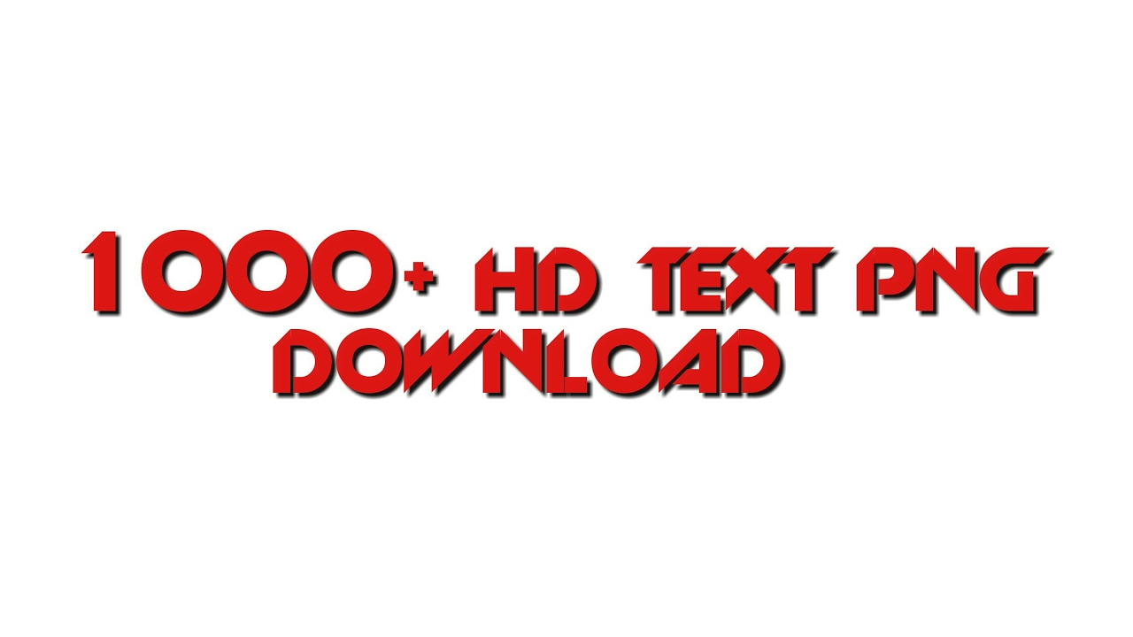 How To Download 1000  HD Text