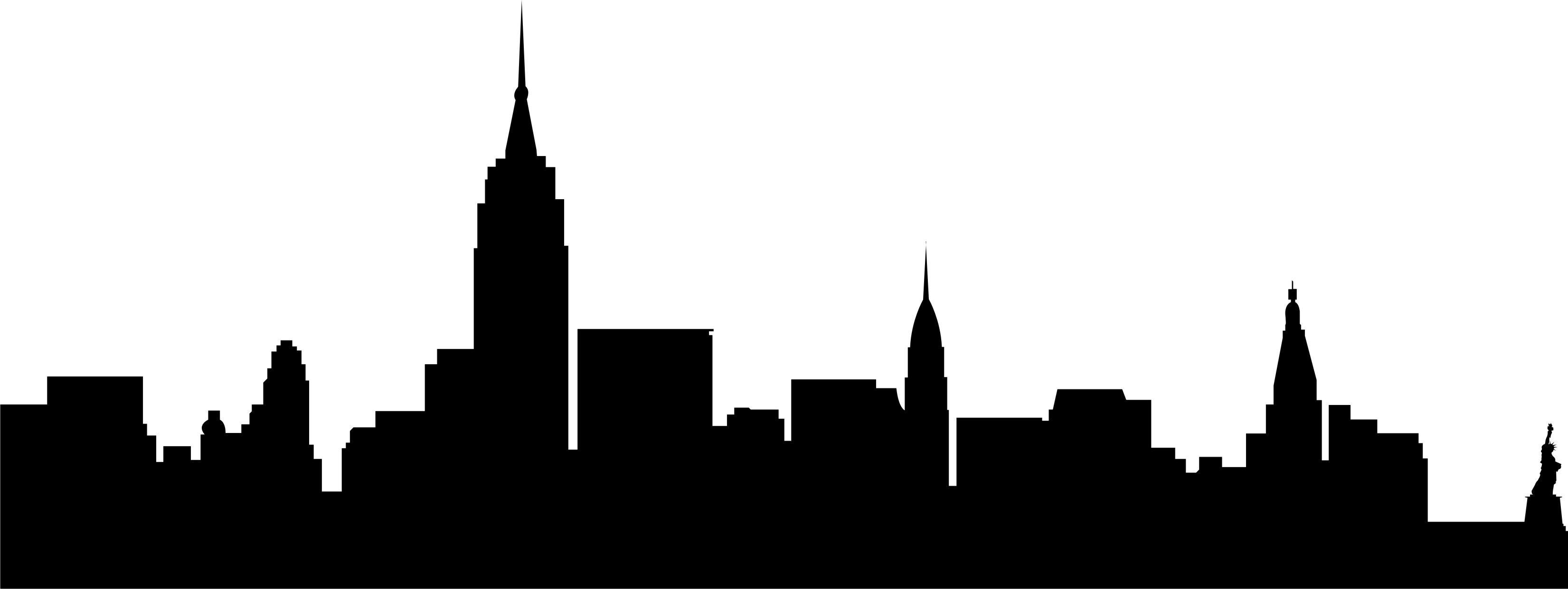 city building clipart black and white png 2 - New York City PNG Black And White