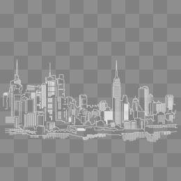new york city building vector, HD, Vector, White PNG and Vector - New York City PNG Black And White