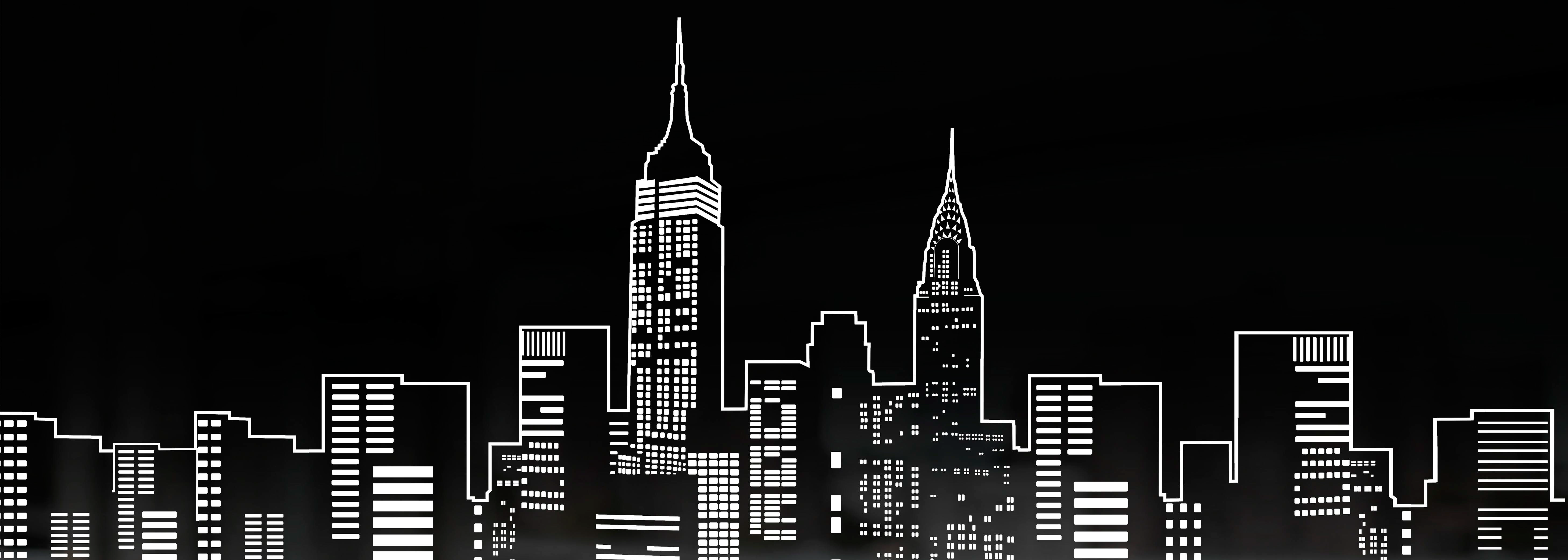 New York City PNG Black And White - 162879