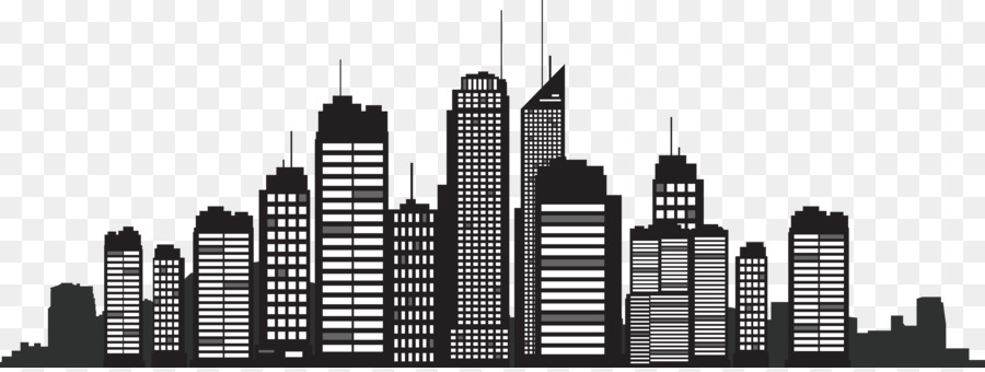 New York City Silhouette Skyline Cityscape - Building Silhouette - New York City PNG Black And White