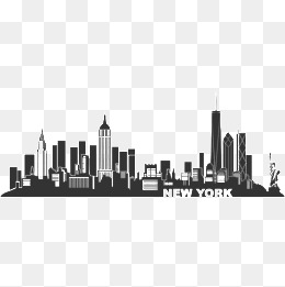 new york, City, Sketch, New York PNG Image and Clipart - New York City PNG Black And White